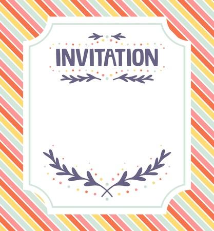 invitacion fiesta: Plantilla linda de la invitaci�n para eventos festivos Vectores