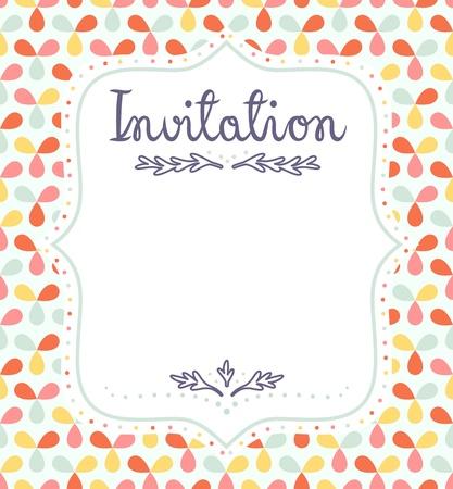 Cute invitation template for festive events