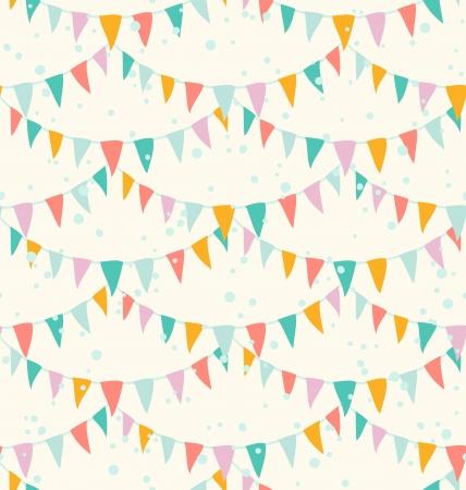 Birthday garlands seamless pattern