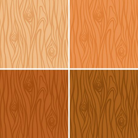 tree bark: Seamless wooden texture pattern set in 4 colors  Illustration