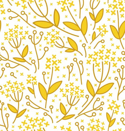 Seamless abstract floral pattern on white background Stock Vector - 18391655