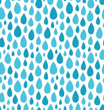 Les gouttes de pluie taches seamless Vecteurs
