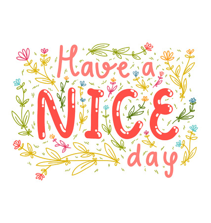 Have a nice day wishing card Vettoriali