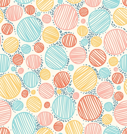 rounds: Color dotted abstract seamless pattern