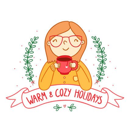 Warm and cozy holidays card Vector