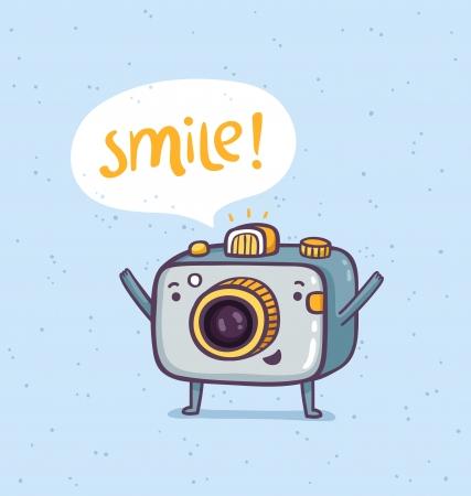 Cute photo camera character