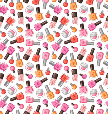 Nail polish vector seamless pattern Vector