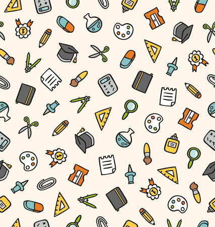 Education stuff vector seamless pattern Vector