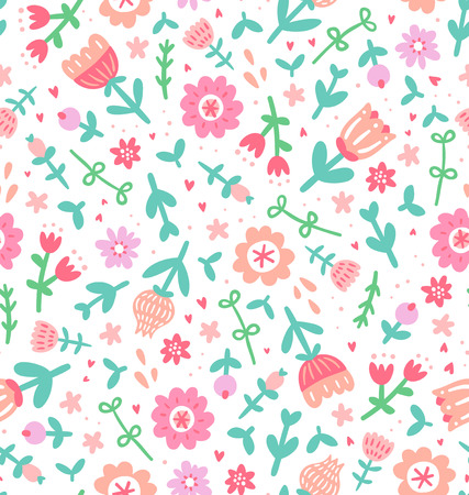Colorful floral print seamless pattern 向量圖像