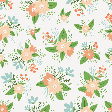 compositions: Vintage composizioni floreali seamless pattern