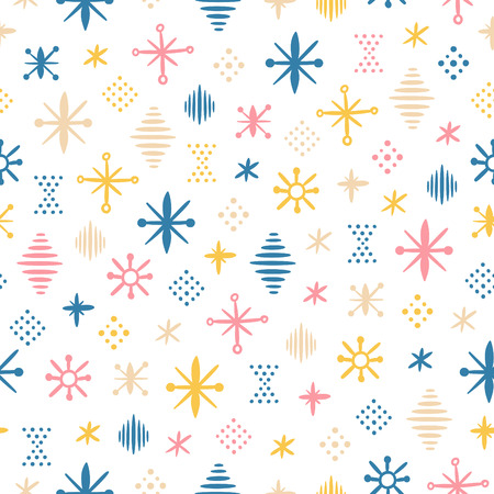 Christmas motives, abstraction shapes seamless pattern