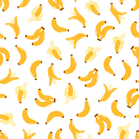 eating fruit: Banana print seamless pattern background