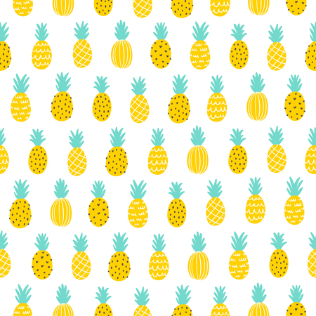 Tropical pineapple seamless pattern background