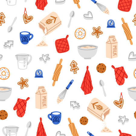 cookie cutter: Baking cookies beautiful and fun seamless pattern Illustration
