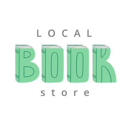 sign store: book store sign, vector illustration, isolated on white