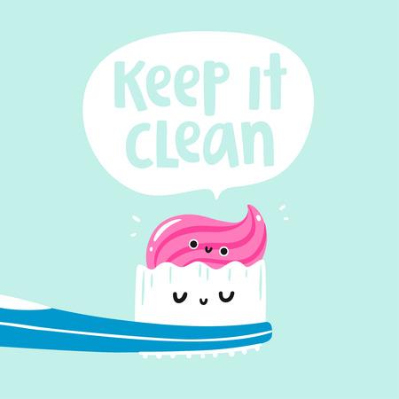 keep clean: Keep it clean vector card Illustration