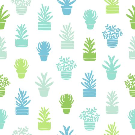succulent: Succulents silhouettes simple seamless pattern
