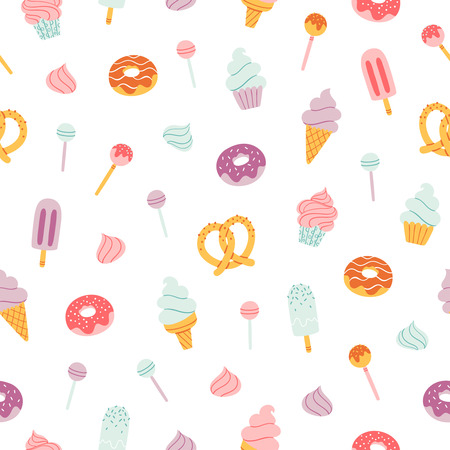 candy bar: Candy bar sweets and pastry seamless pattern