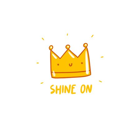 crown: Shine on, vector crown character
