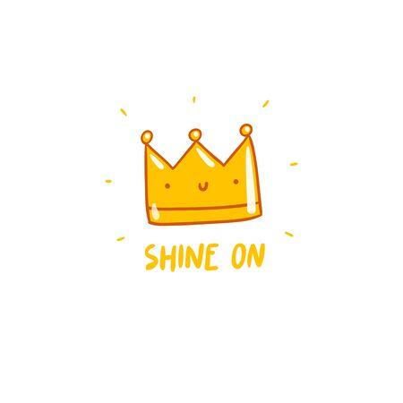 feel good: Shine on, vector crown character