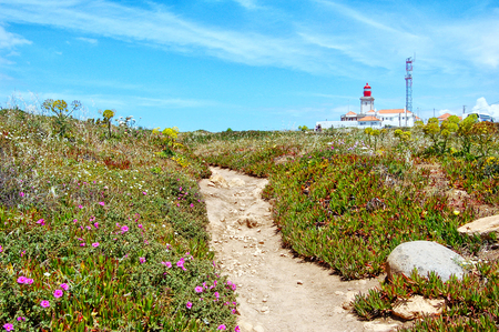 sightsee: Cabo da roca lighthouse, most western place of Europe in Portugal.