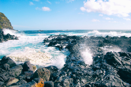 sightsee: Hot ocean pool, wnere cold ocean water meets volcano heat, Azores, Portugal