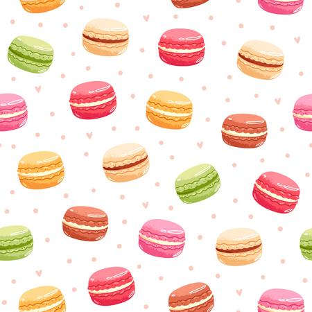 다채로운 macarons 원활한 패턴