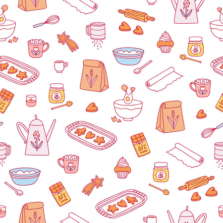 Home baking seamless pattern