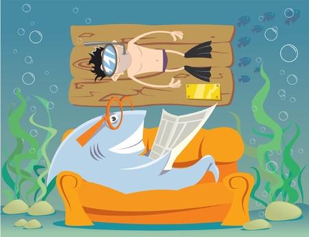 Funny underwater world