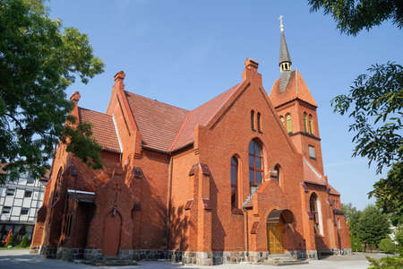 Zelenogradsk. View of the city - Church of St. Adalbert 版權商用圖片
