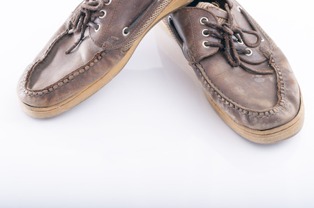 and worn out: Worn out moccasin Stock Photo