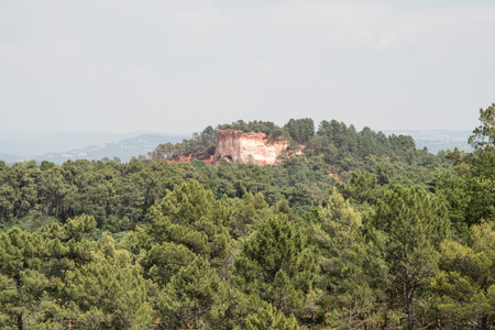 Okergroeve, Roussillon, Provence, Frankrijk Stockfoto