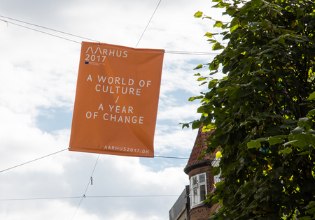 banner for the european capital of Culture 2017 in Aarhus.