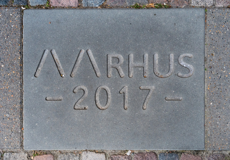 commemorative tile for the european capital of Culture 2017 in Aarhus.