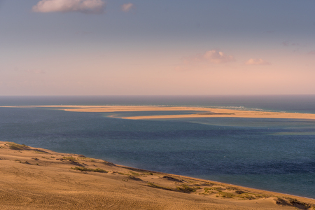 view of the Dune du Pilat and the sea near Bordeaux in France