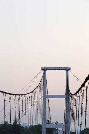 rope bridge: rope bridge and clear sky