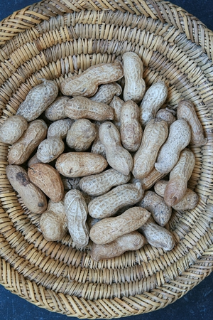 scuttle: Scuttle in which they are prepared peanuts