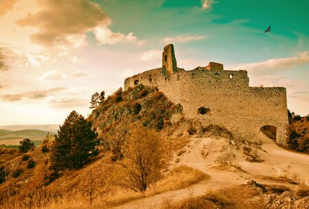 ruins: Very old castle ruins. In the Czech Republic from the 18h century