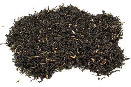 A pile of loose leaf black tea