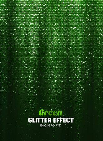 Magie schitter achtergrond in groene kleur. Vectorafficheachtergrond met Glanselementen.