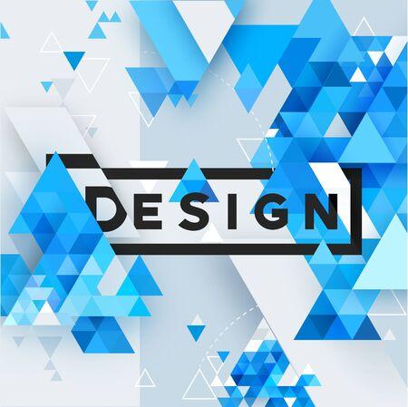 Abstract 3d vector geometrical triangular textured bright background Ilustração