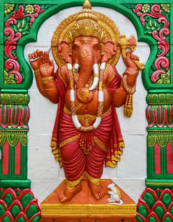indian animal: God elephent in hindo temple
