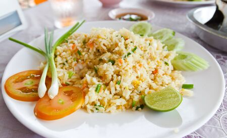 chicken rice: Fried rice