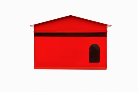 Front red mail box, isolate photo