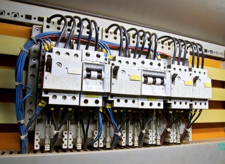 Bedieningspaneel met installatie-automaten (zekering) Stockfoto - 9393449
