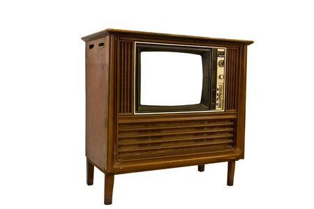 Retro Vintage television  on a white background Stock Photo - 9404242