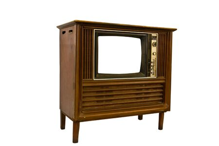 Retro Vintage television  on a white background