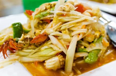 somtum: Thai cuisine ,delicious thai food  somtum Stock Photo