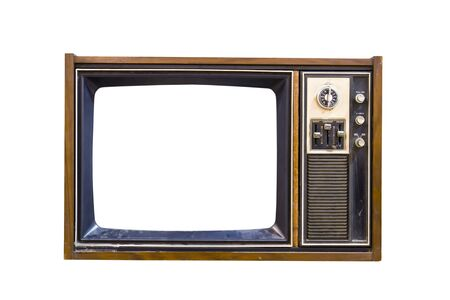 Retro Vintage television  on a white background Stock Photo - 9466445