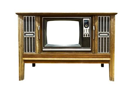 Retro Vintage television  on a white background Stock Photo - 9460601